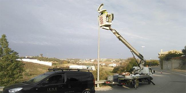Proyecto de alumbrado p�blico en Montemayor